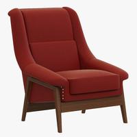 3d model brabbu inca armchair