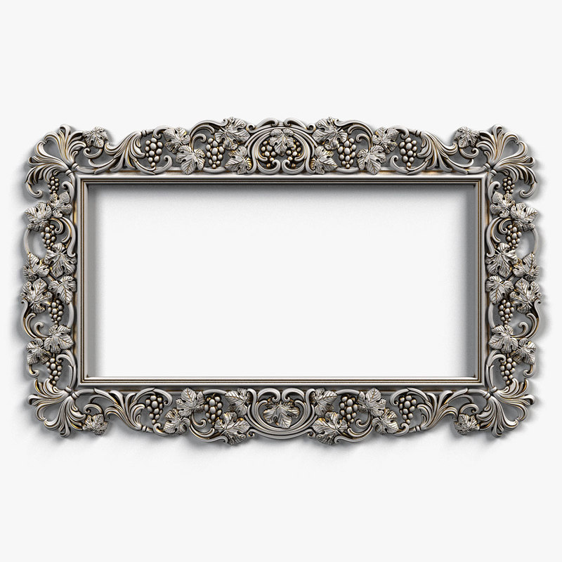 frame designed 3d model