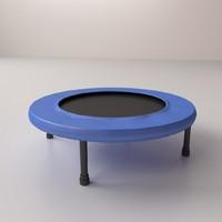 3d model trampoline