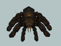 3d tarantula shave hair model