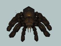 3d tarantula shave hair model
