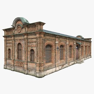 3d model abandoned house old warehouse