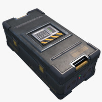 Sci-fi Military Safe Crate Container