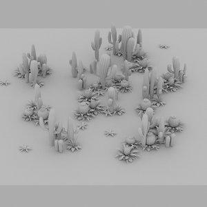 3d model cactus forest