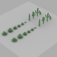 3d model cactus forest