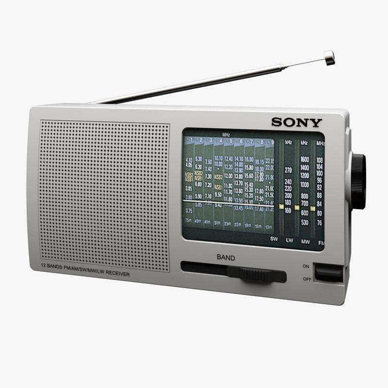 sony radio 3d max