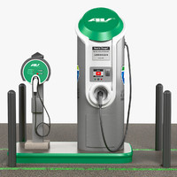3d model electric car charging station