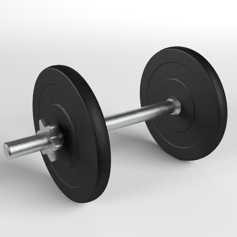 dumbbell gym 3d model