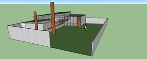 3d minimalist house howard idea model