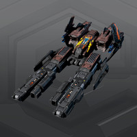 scifi spaceship 3d max