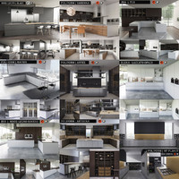 kitchen bluna laccato 3d max