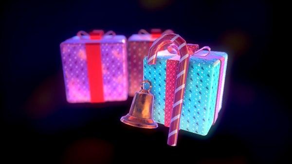 free christmas pack 3d model