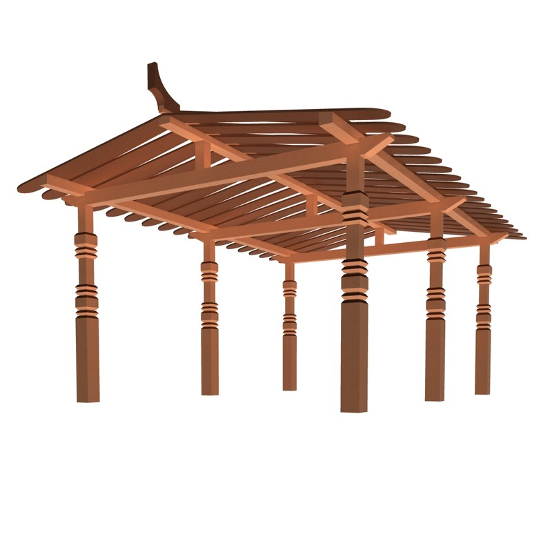 free wooden shed protection 3d model