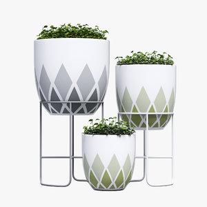 3d max design harlequin pot