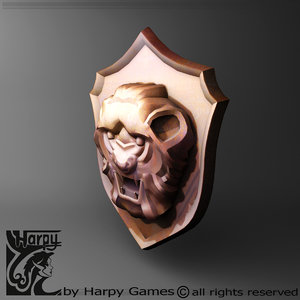 lion shield 3d 3ds