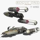 y-wing 3D models