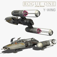 3d y-wing star wars