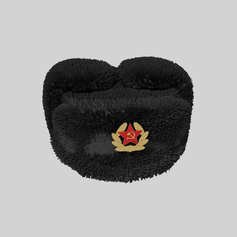 3d max ushanka black soviet 8ac150556fa