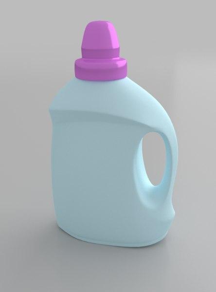 3d model detergent softener bottle