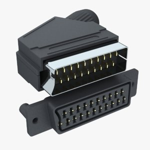 3d obj scart connectors