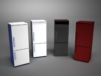 3d fridge fridgerator