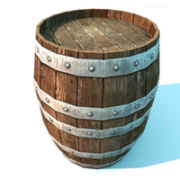 wooden barrel wood 3d max
