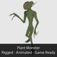 3d ready plant monster - model