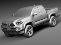 toyota tacoma short cab 3d model
