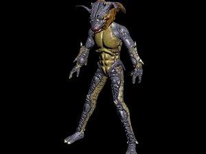 monster zoanoid 3d model