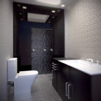 3d model modern bathroom