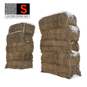 sheaf hay 16k 3d obj