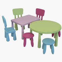 3d obj ikea mammut children set