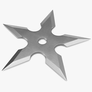 3d shuriken points center hole model