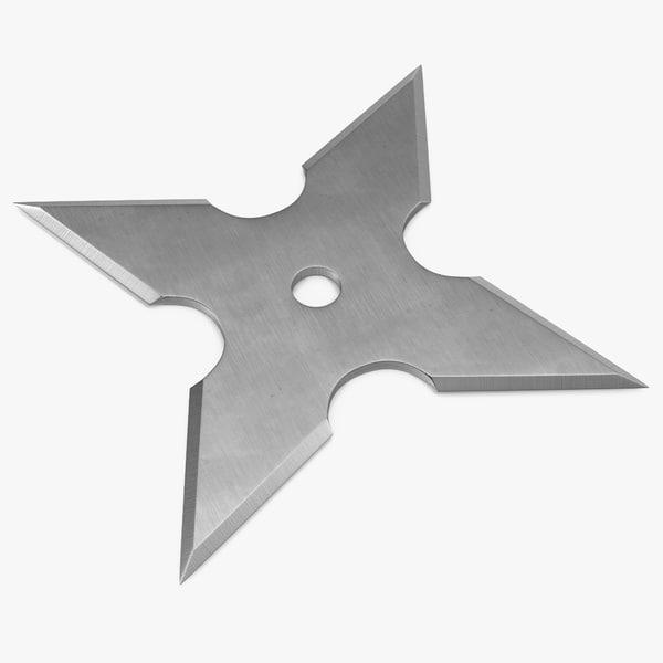 3d shuriken point model