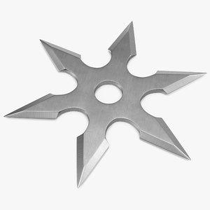shuriken point 3d max