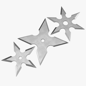 c4d shurikens set