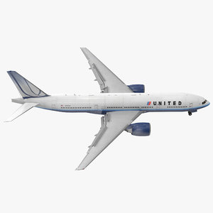 boeing united airlines rigged 3d model