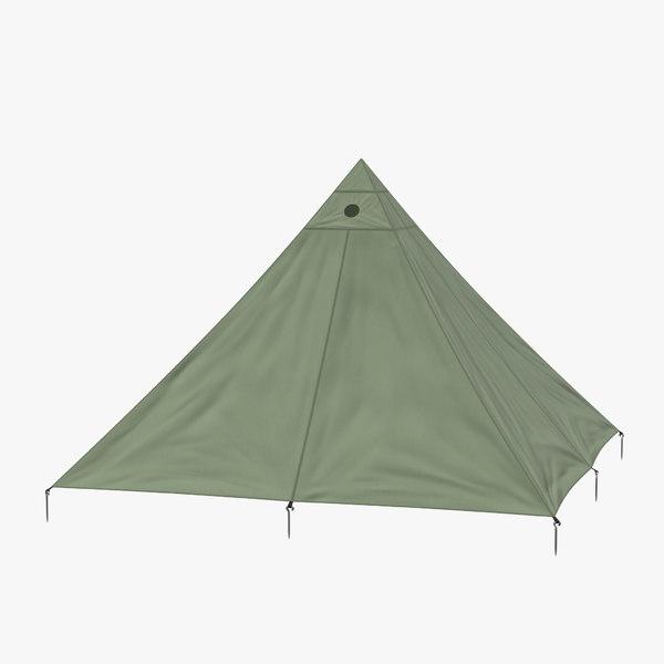 3d model floorless camping light tent