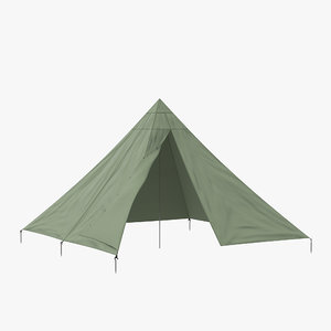 3d max floorless camping tent open