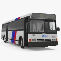 Flxible Metro D Bus Rigged 3D Model