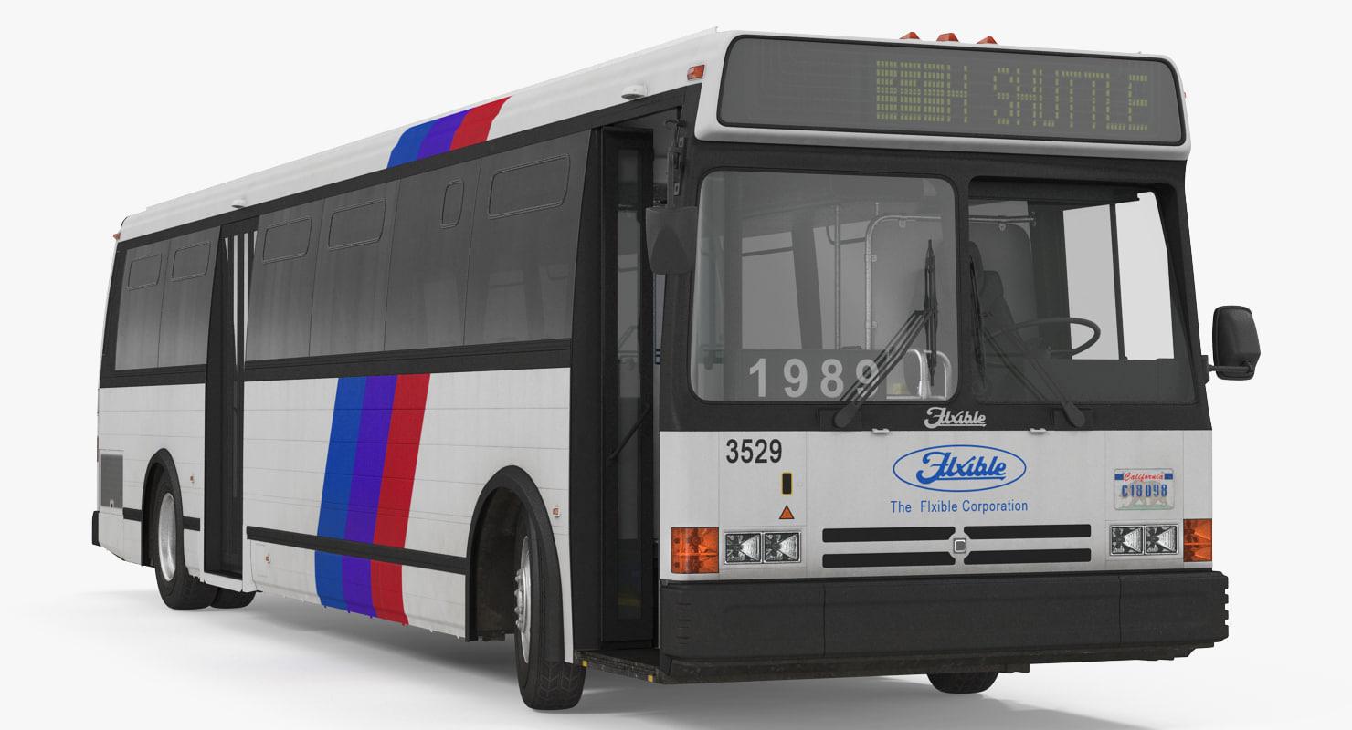 3d model flxible metro d bus