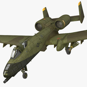 3d fairchild republic a-10 thunderbolt model