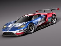 Ford GT LM GTE Le Mans 2017 race car