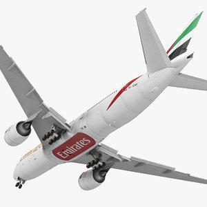 3d boeing 777 200er emirates