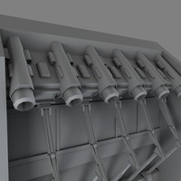 industrial air intake 3d obj