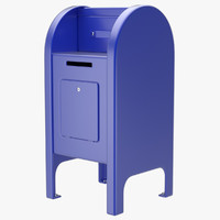 post box 2 3d obj