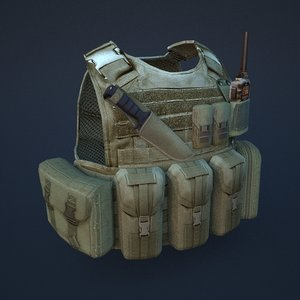 3d model of body armor