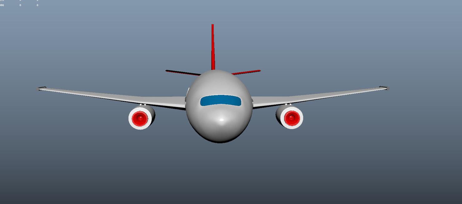 3d plane passenger model