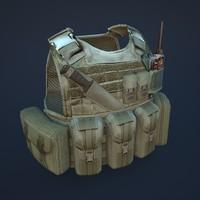 3d model of body armor