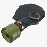 3d gas mask laying model
